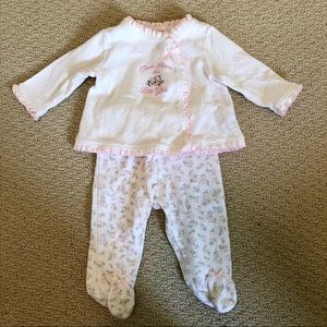 Little Me Baby Girl's Top and Pants Matching Set